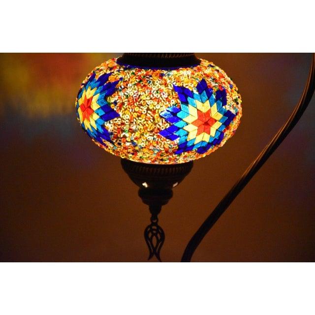Turkish Handmade Mosaic Lamp - Image 5 of 7