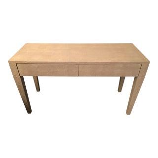 Kara Mann Faux Shagreen Desk For Sale