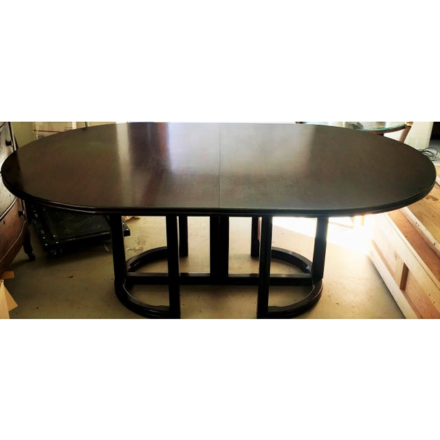 Art Deco Vintage McGuire Furniture Company Solid Woof Extension Dining Table For Sale - Image 3 of 3