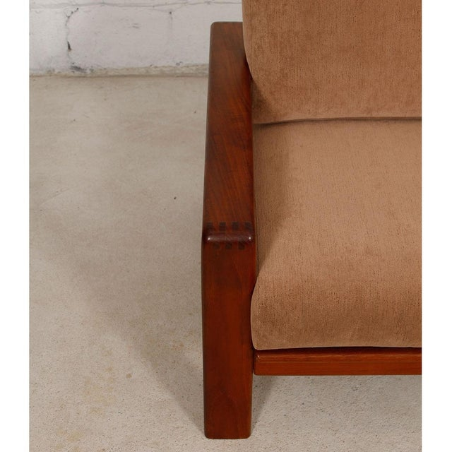 Vintage Teak Loveseat with New Upholstery - Image 8 of 10