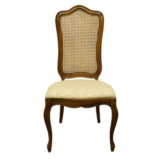 Late 20th Century Thomasville Furniture Tableau Collection French Provincial Cane Back Dining Side Chair For Sale