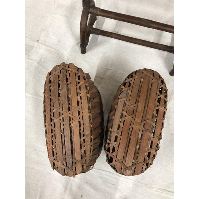 Mid-Century Bentwood Two Basket Organizer For Sale - Image 9 of 11