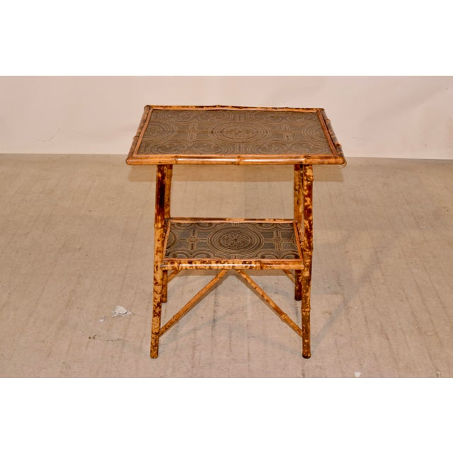 Art Nouveau 19th C Bamboo Side Table For Sale - Image 3 of 8