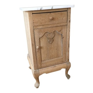 Antique Country French Style Bedside Table For Sale