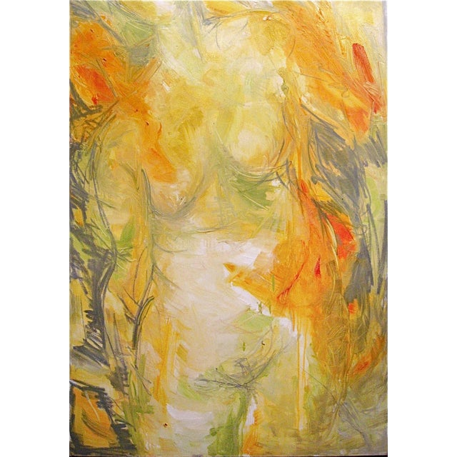 """Trixie Pitts """"Goddess"""" Abstract Painting - Image 1 of 3"""