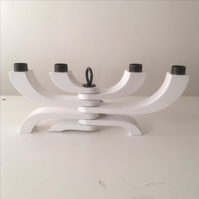 Design House Stockholm White Lacquer Candleholder - Image 2 of 7