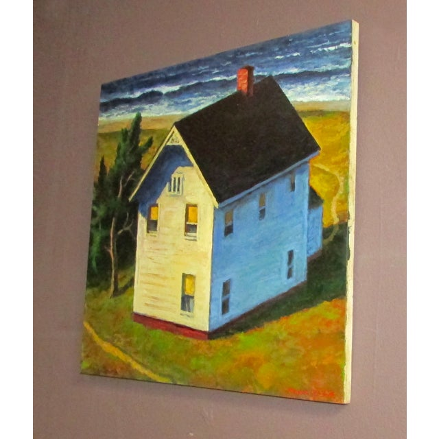 """Around the House"" Oil Painting - Image 2 of 2"