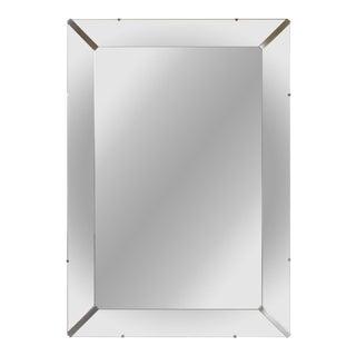Nickel Accent Beveled Mirror
