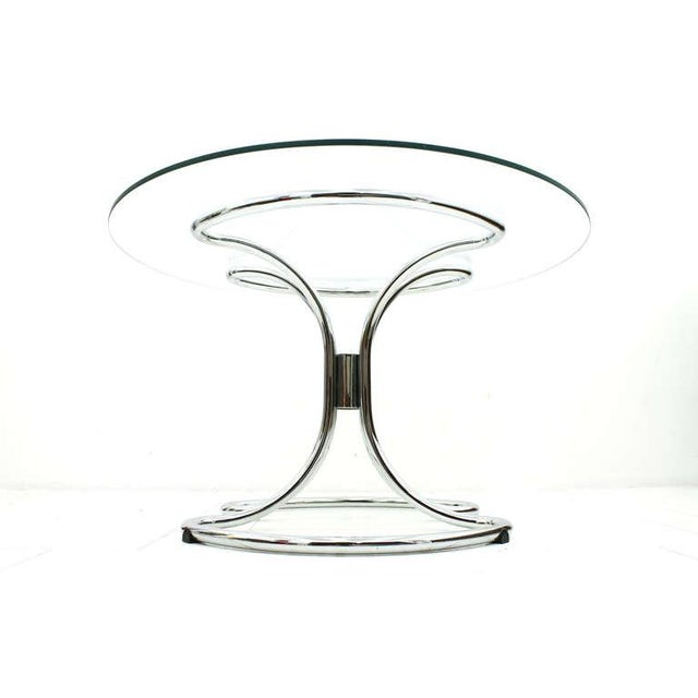 Glass and Steel Tube Dining Table by Giotto Stoppino, Italy 1960`s For Sale - Image 9 of 9