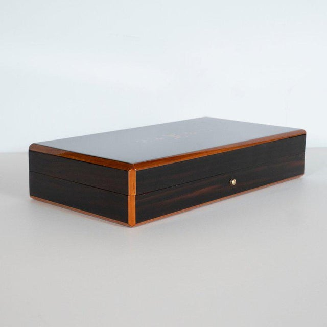 Louis Vuitton Modernist Rosewood and Cedar Monogrammed Humidor by Louis Vuitton For Sale - Image 4 of 9