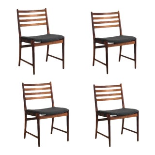 Vintage Danish Rosewood Dining Chairs - Set of 4 For Sale