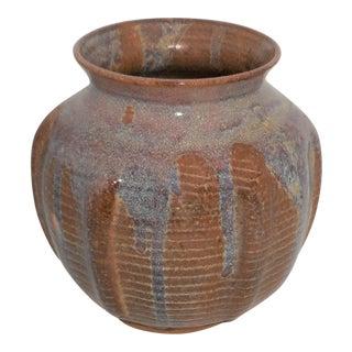1980 Large Signed / Dated Karen Karnes Orb Pottery Orb Vase