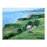 Image of Irish Beach Barn Highway One Painting For Sale