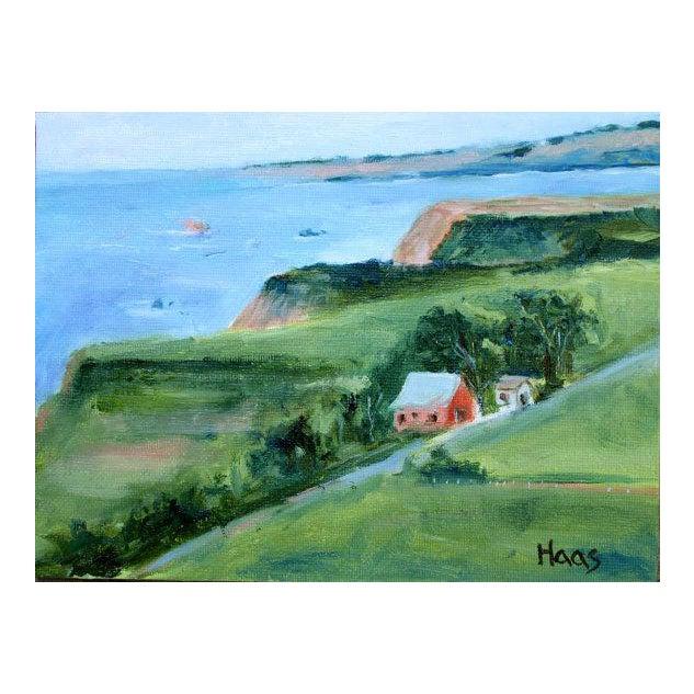 Irish Beach Barn Highway One Painting For Sale