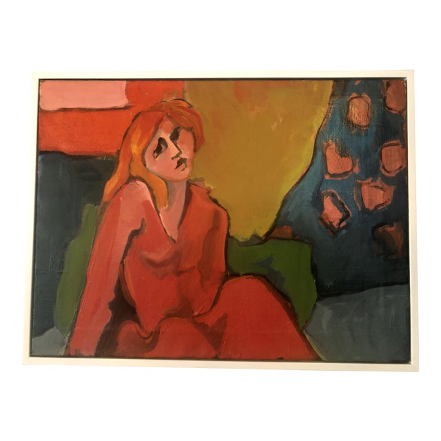 Late 20th Century Fay Singer Original Oil Painting For Sale