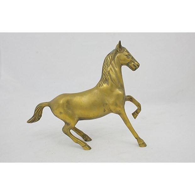 English Traditional Mid-Century Brass Stallion For Sale - Image 3 of 4