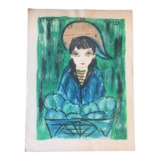 Original Francois Mid Century Paris School Painting
