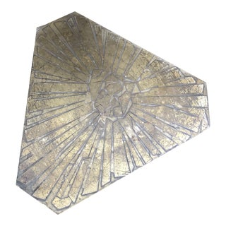 1970s Italian Etched Bronze Side Table by G. Urso For Sale