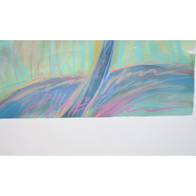 Watercolor Large Tropical Flowers Color Pastel Drawing #1 by Patricia McGeeney For Sale - Image 7 of 8