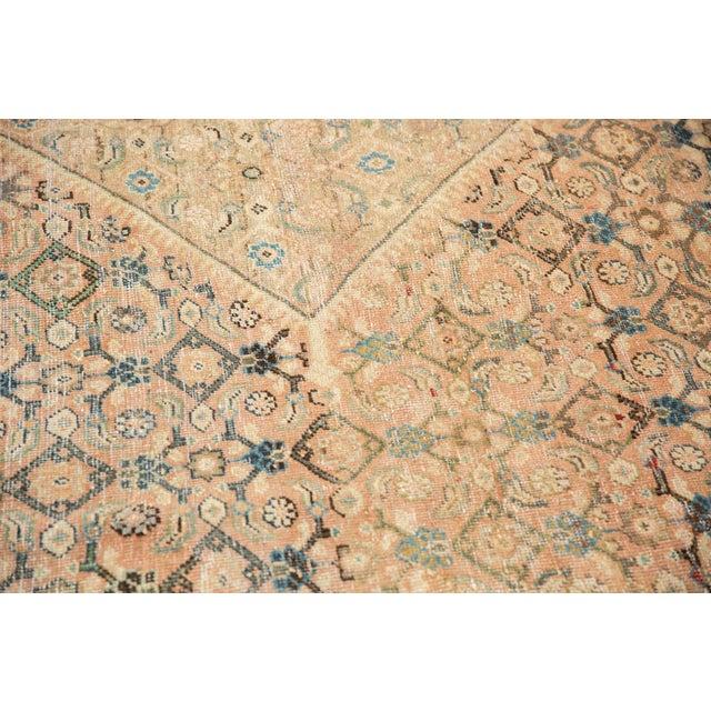 "Vintage Distressed Mahal Carpet - 9'9"" X 12'8"" For Sale - Image 9 of 13"