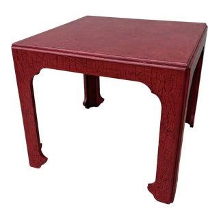 Vintage Baker Asian Influence Side Table For Sale