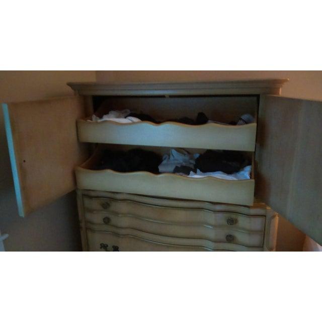 Vintage French Provincial Highboy Dresser For Sale - Image 5 of 5