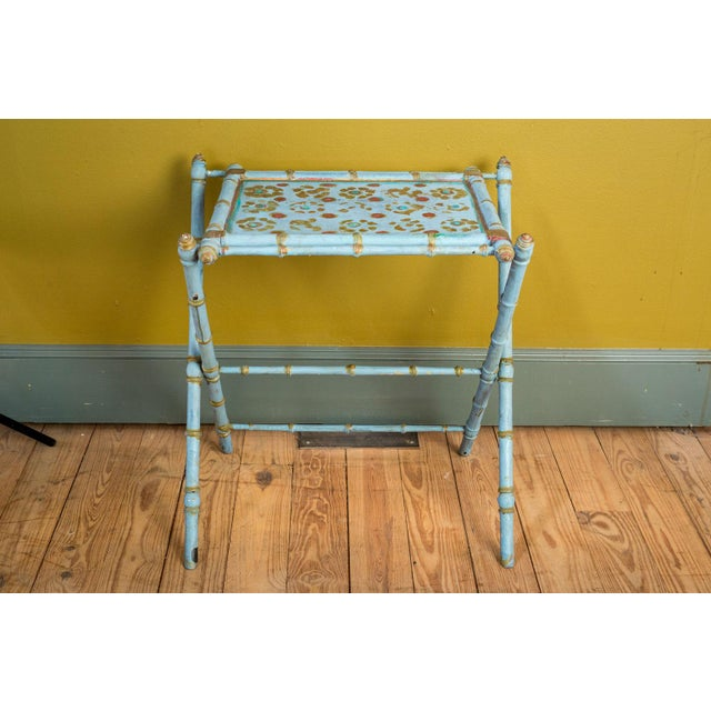 Antique Painted Tray Table For Sale - Image 11 of 13