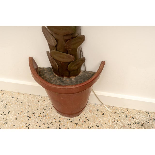 1970s Custom Palm Tree Form Wall Torcheres 9 Ft High - a Pair For Sale - Image 9 of 12