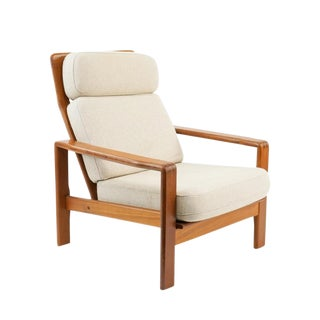 1970s Vintage S. Burchardt-Nielsen Teak Lounge Chair For Sale
