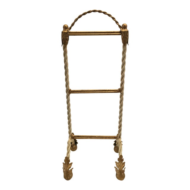 Italian Painted Hand Towel Holder For Sale