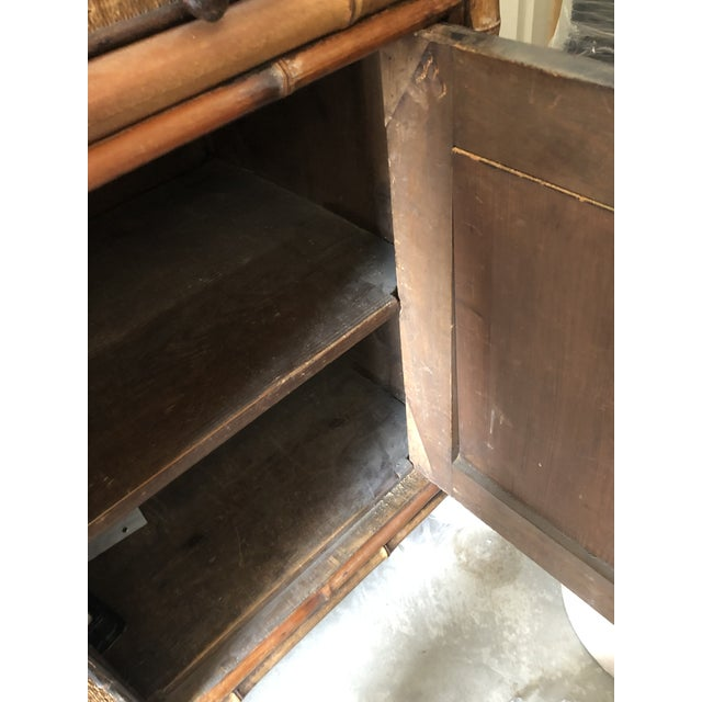 1940s 1940s Boho Chic Bamboo Hutch For Sale - Image 5 of 7