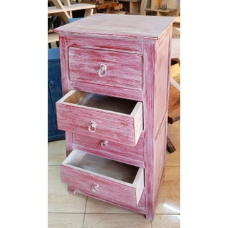 Moroccan Hand Painted Faded Pink Wooden Cabinet Preview