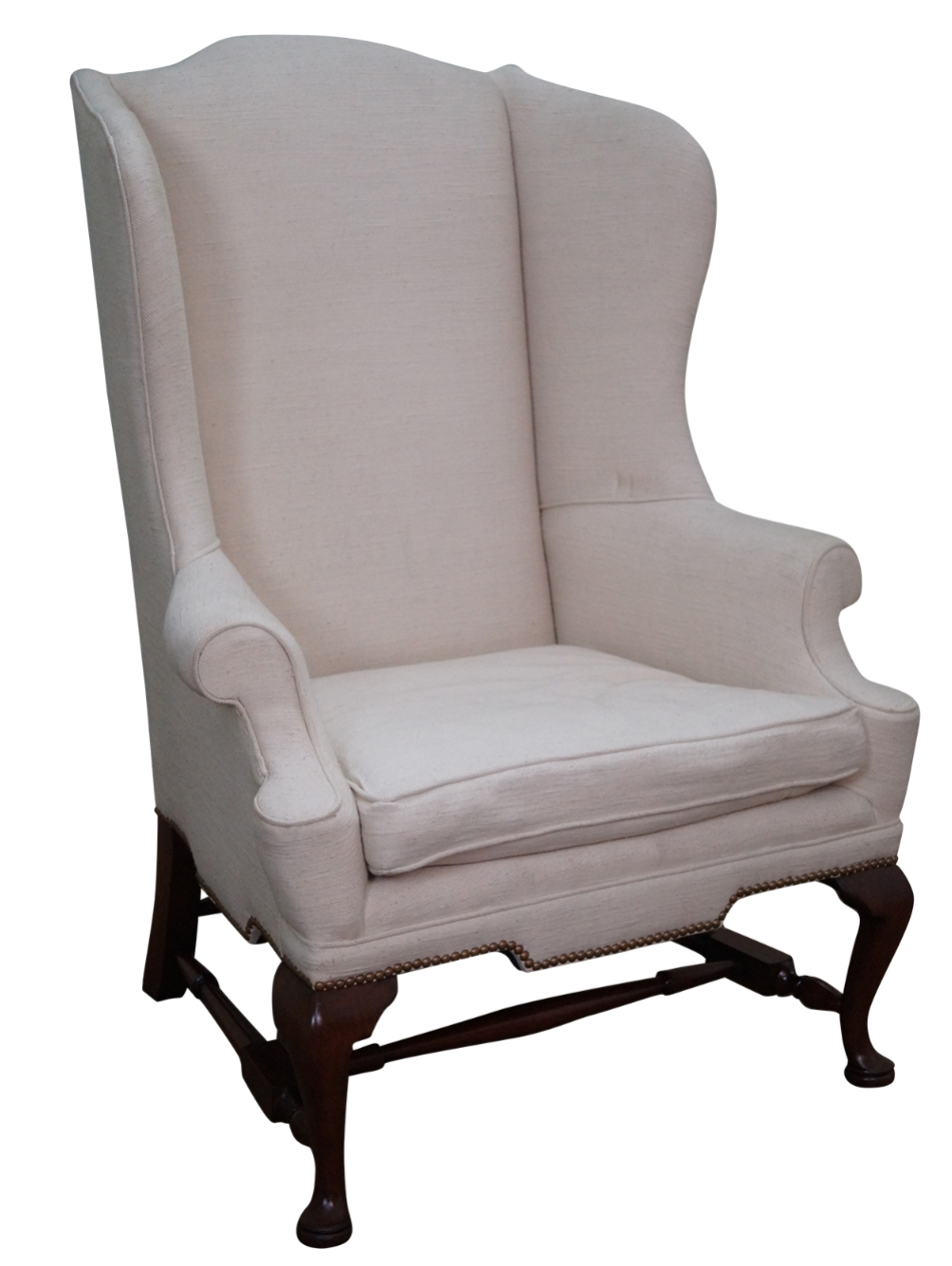 Charmant Biggs Kittinger Mahogany Queen Anne Wing Chair