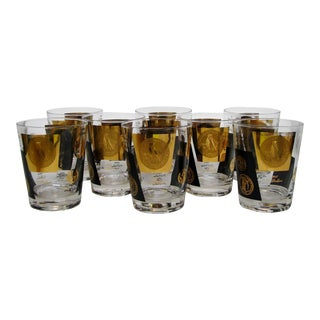 Vintage Double Old Fashioned Glasses - Set of 8 For Sale