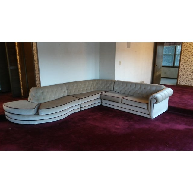 Mid Century Modern Sectional Sofa For Sale - Image 4 of 4