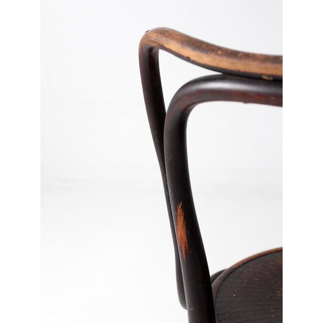 Brown Antique Jacob & Josef Kohn Bentwood Chair For Sale - Image 8 of 12