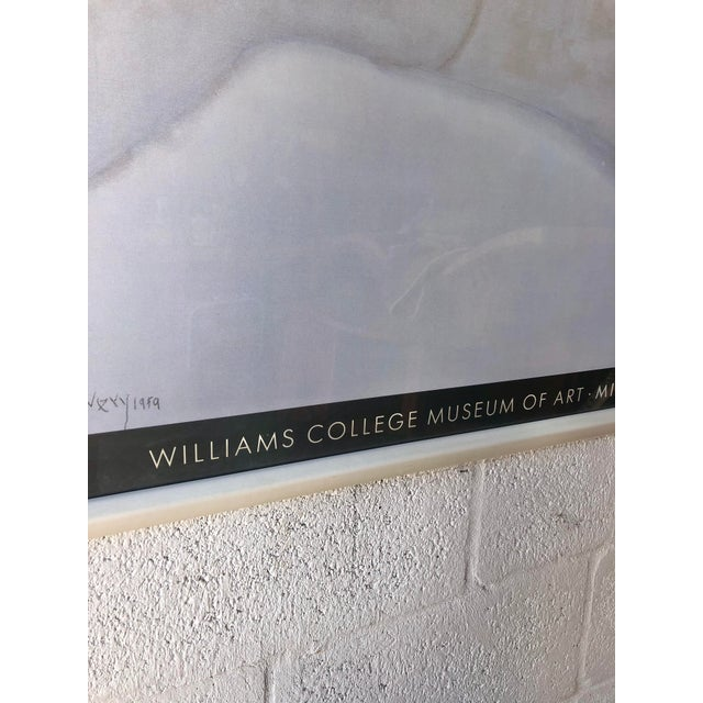 Off-white Rare Milton Avery 'Reclining Blonde' Framed Lithograph Print Exhibition Poster. For Sale - Image 8 of 12