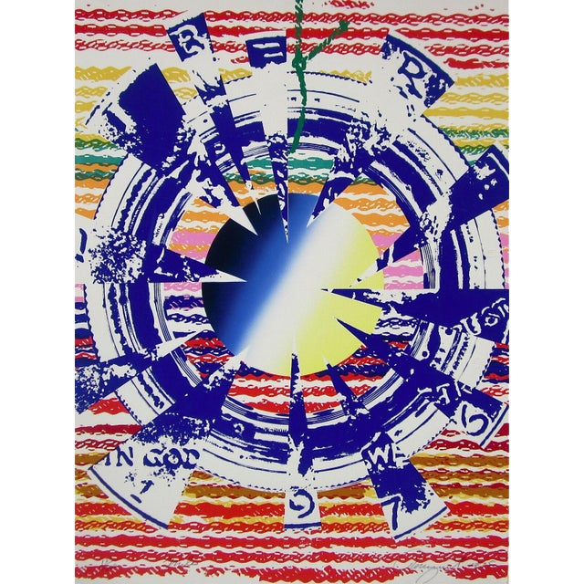 """Late 20th Century """"Miles"""" Limited Edition Silkscreen After James Rosenquist For Sale"""