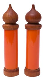 Image of Danish Modern Salt and Pepper Shakers