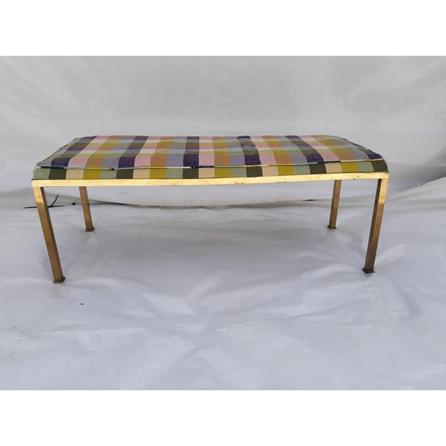 1960s Vintage Solid Brass Bench For Sale - Image 9 of 9