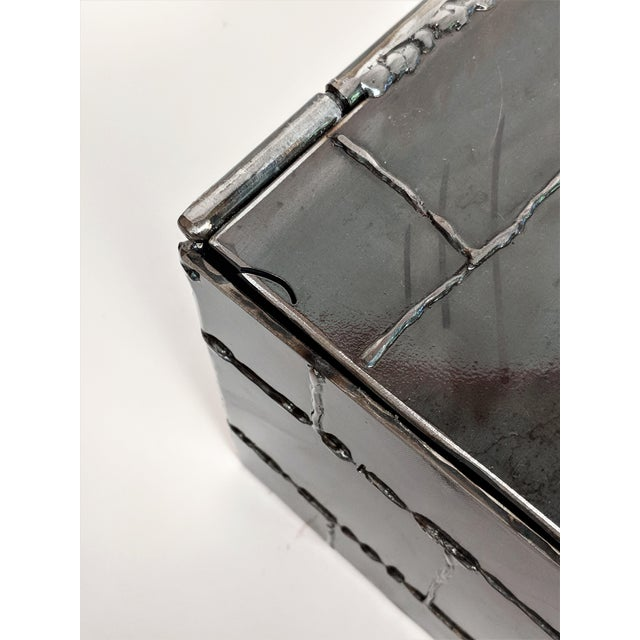 Brutalist Metal Box Hand Welded Box For Sale In Miami - Image 6 of 12