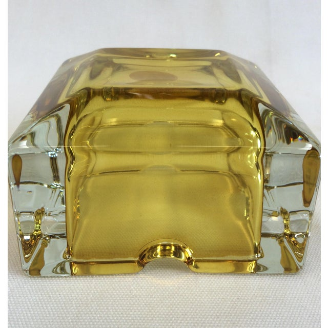 Vintage West German Yellow Art Glass Ashtray - Image 6 of 6
