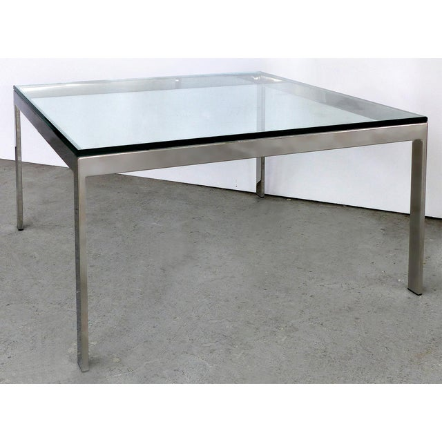 Contemporary Contemporary Italian Stainless Steel & Glass Cube Coffee Tables, Two Available For Sale - Image 3 of 9