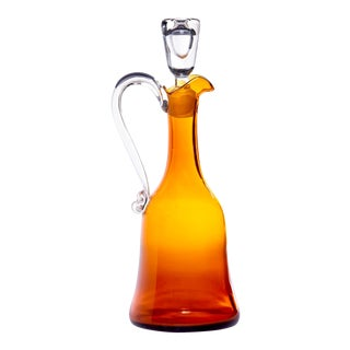 Cenedese Amber Murano Glass Decanter or Carafe For Sale