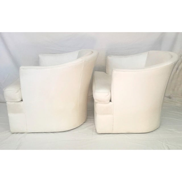 A fabulous pair of 1960s sleek beauties with timeless clean lines in vivid white. Custom made for a designer in Laguna,...