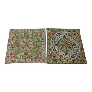 Uzbek Suzani Contrsting Pillow Covers - a Pair