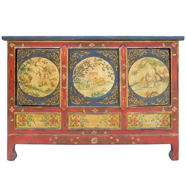 Chinese Tibetan Credenza - Image 1 of 7