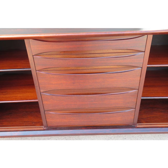 Paper 1960s Mid-Century Modern Rosewood Vodder or Omann Style Sideboard For Sale - Image 7 of 8