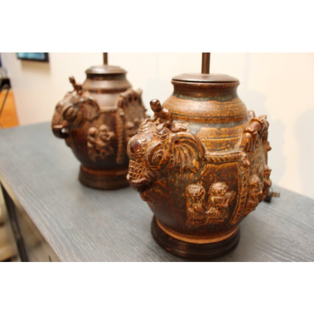 East Indian Elephant Lamps- A Pair For Sale - Image 11 of 11
