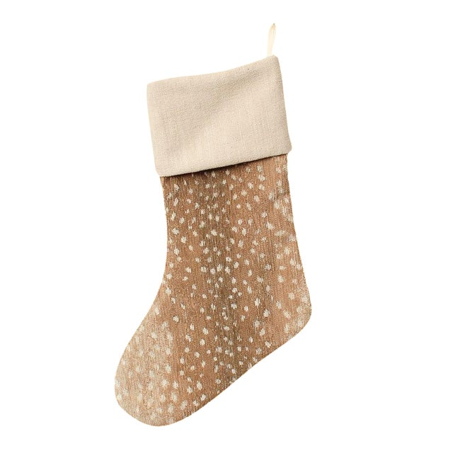 Tan Chenille Antelope Stocking For Sale